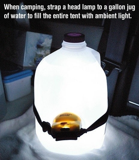 lamp BuzzFeeds 41 Camping Hacks That Are Borderline Genius